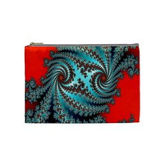 Digital Fractal Pattern Cosmetic Bag (medium)  by Simbadda