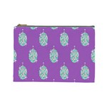 Disco Ball Wallpaper Retina Purple Light Cosmetic Bag (Large)  Front