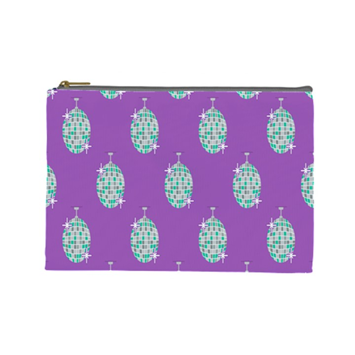 Disco Ball Wallpaper Retina Purple Light Cosmetic Bag (Large)