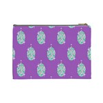 Disco Ball Wallpaper Retina Purple Light Cosmetic Bag (Large)  Back