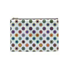 Flowers Color Artwork Vintage Modern Star Lotus Sunflower Floral Rainbow Cosmetic Bag (medium)  by Alisyart