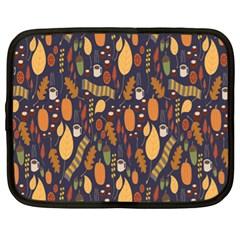 Macaroons Autumn Wallpaper Coffee Netbook Case (xl)  by Alisyart