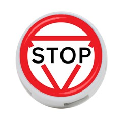Stop Sign 4-port Usb Hub (two Sides)  by Alisyart