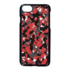 Spot Camuflase Red Black Apple Iphone 7 Seamless Case (black) by Alisyart