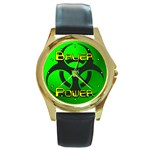 Bauer-Power Round Gold Metal Watch