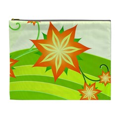 Graphics Summer Flower Floral Sunflower Star Orange Green Yellow Cosmetic Bag (xl)