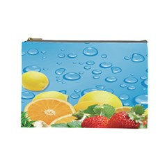 Fruit Water Bubble Lime Blue Cosmetic Bag (large)  by Alisyart