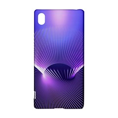 Lines Lights Space Blue Purple Sony Xperia Z3+ by Alisyart