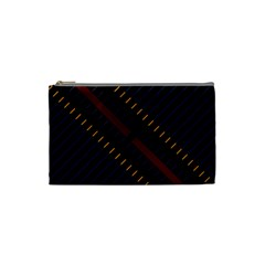 Material Design Stripes Line Red Blue Yellow Black Cosmetic Bag (small)  by Alisyart