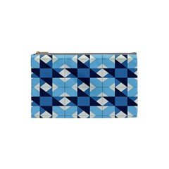 Radiating Star Repeat Blue Cosmetic Bag (small)