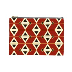 Triangle Arrow Plaid Red Cosmetic Bag (large)  by Alisyart