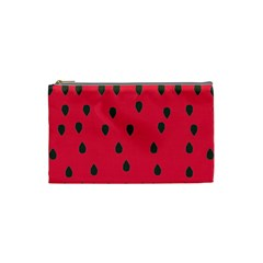 Watermelon Fan Red Green Fruit Cosmetic Bag (small)  by Alisyart