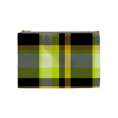 Tartan Pattern Background Fabric Design Cosmetic Bag (medium)  by Simbadda