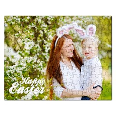 Happy Easter Family Bunny Jigsaw Puzzle (rectangle)