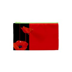 Flower Floral Red Back Sakura Cosmetic Bag (xs) by Mariart