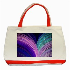Color Purple Blue Pink Classic Tote Bag (red)