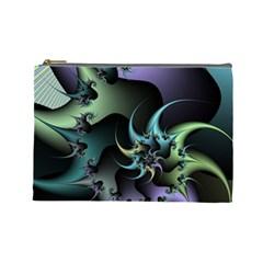 Fractal Image With Sharp Wheels Cosmetic Bag (large)  by Simbadda