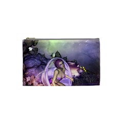 Wonderful Fairy In The Wonderland , Colorful Landscape Cosmetic Bag (small)  by FantasyWorld7