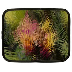 Abstract Brush Strokes In A Floral Pattern  Netbook Case (xl)  by Simbadda