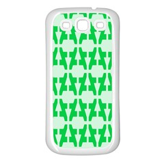 Sign Green A Samsung Galaxy S3 Back Case (white) by Mariart