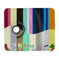 Rainbow Color Line Vertical Rose Bubble Note Carrot Galaxy S3 (flip/folio) by Mariart