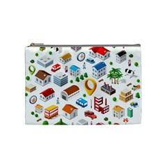 Urban Pattern  Cosmetic Bag (medium)  by Alexprintshop