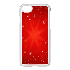 Red Holiday Background Red Abstract With Star Apple Iphone 7 Seamless Case (white) by Nexatart