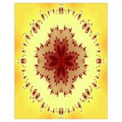 Yellow Digital Kaleidoskope Computer Graphic Drawstring Bag (small) by Nexatart
