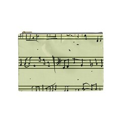 Music Notes On A Color Background Cosmetic Bag (medium)