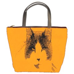 Cat Graphic Art Bucket Bags by Nexatart
