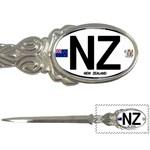 NZ - New Zealand Euro Oval Letter Opener