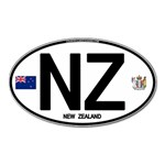 NZ - New Zealand Euro Oval Magnet (Oval)