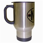 NZ - New Zealand Euro Oval Travel Mug (Silver Gray)