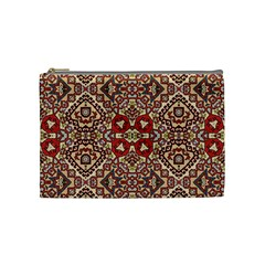 Seamless Pattern Based On Turkish Carpet Pattern Cosmetic Bag (medium)  by Nexatart