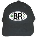 BR - Brazil Euro Oval Black Cap