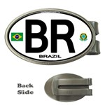 BR - Brazil Euro Oval Money Clip (Oval)