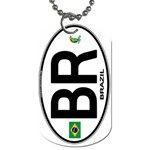 BR - Brazil Euro Oval Dog Tag (One Side)