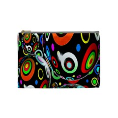 Background Balls Circles Cosmetic Bag (medium)  by Nexatart