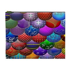 Fun Balls Pattern Colorful And Ornamental Balls Pattern Background Cosmetic Bag (xl) by Nexatart