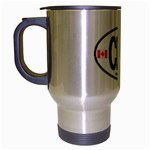 CDN - Canada Euro Oval Travel Mug (Silver Gray)