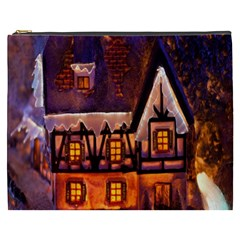 House In Winter Decoration Cosmetic Bag (xxxl)
