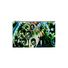 Dark Abstract Bubbles Cosmetic Bag (small)  by Nexatart