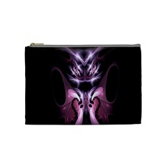Angry Mantis Fractal In Shades Of Purple Cosmetic Bag (medium)  by Nexatart