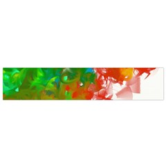 Digitally Painted Messy Paint Background Textur Flano Scarf (small) by Nexatart