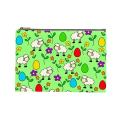 Easter Lamb Cosmetic Bag (large)  by Valentinaart