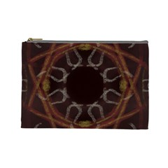 Digitally Created Seamless Pattern Cosmetic Bag (large)