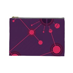 Abstract Lines Radiate Planets Web Cosmetic Bag (large)  by Nexatart