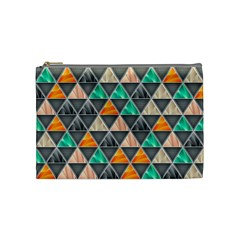 Abstract Geometric Triangle Shape Cosmetic Bag (medium)
