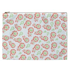 Flower Floral Red Star Sunflower Cosmetic Bag (xxl)  by Mariart