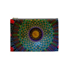 Temple Abstract Ceiling Chinese Cosmetic Bag (medium)  by Nexatart